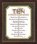 """The Ten Commandments. Thou shalt have no other gods before me. Thou shalt not make unto thee any graven image. Thou shalt not take the name of the Lord thy God in vain. Remember the Sabbath day to keep it holy. Honor thy Father and Mother. Thou shalt not kill. Thou shalt not commit adultery. Thou shalt not steal. Thou shalt not bear false witness. Thou shalt not covet"""
