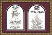 """Love is Patient"" ""Home Rules"""