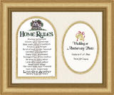 """Home Rules"" Photo Frame for 4"" x 6"" Photo"